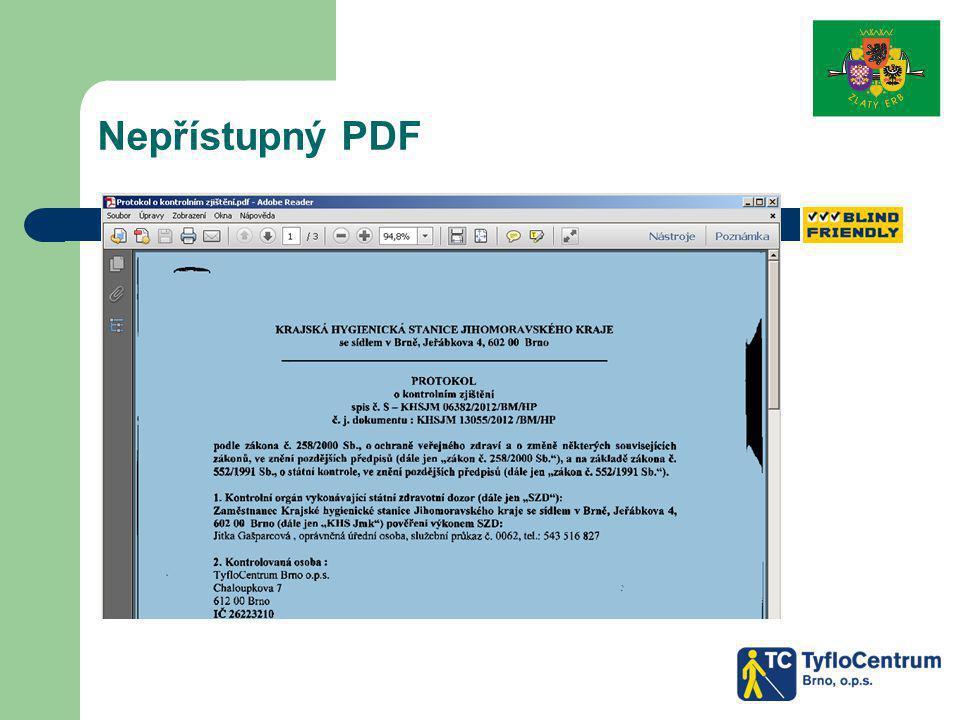 Nepřístupný PDF