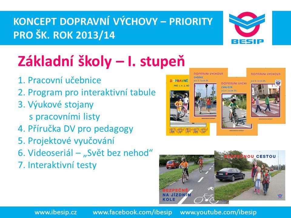 ateaateatad www.ibesip.czwww.facebook.com/ibesipwww.youtube.com/ibesip KONCEPT DOPRAVNÍ VÝCHOVY – PRIORITY PRO ŠK. ROK 2013/14 1. Pracovní učebnice 2.