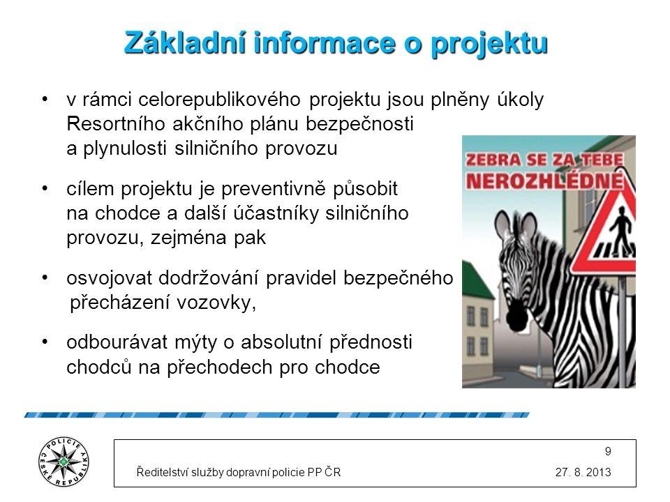 """Realizace dopravně preventivní akce """"Zebra se za tebe nerozhlédne! v termínu od 2."""