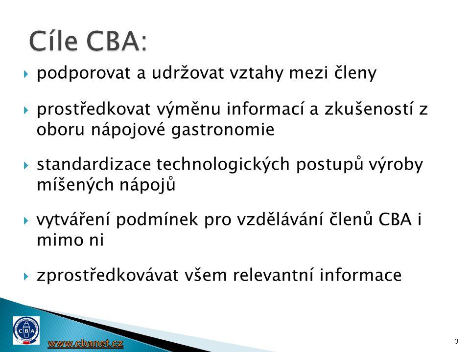  Pořádání soutěží odbornosti barmanů  Vzdělávání  Workshopy a semináře pro členy CBA  Školení komisařů barmanských soutěží  Odborné kurzy pořádané CBA:  Spolupráce se školami 4