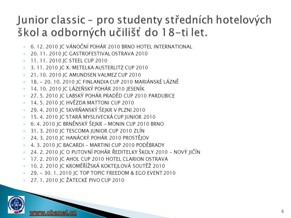  Česká barmanská asociace přivítala založení Vysoké školy obchodní a hotelové v Brně a průběžně sleduje její vývoj.