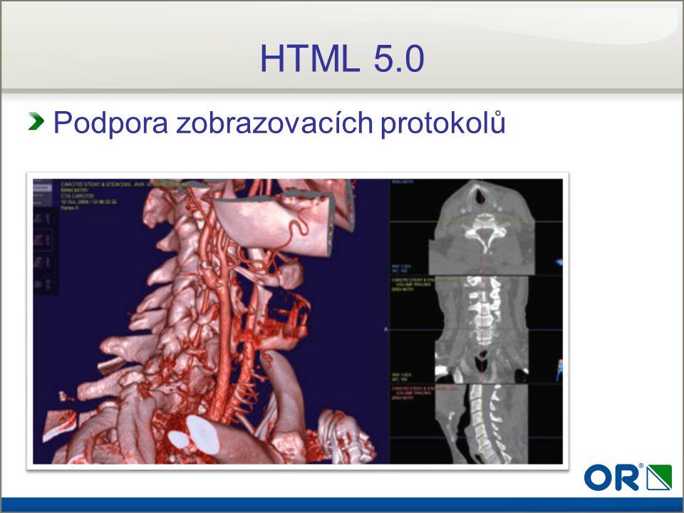 Podpora zobrazovacích protokolů HTML 5.0