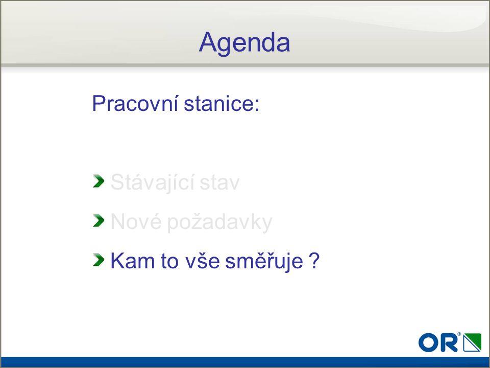 Agenda Pracovní stanice: Stávající stav Nové požadavky Kam to vše směřuje ?