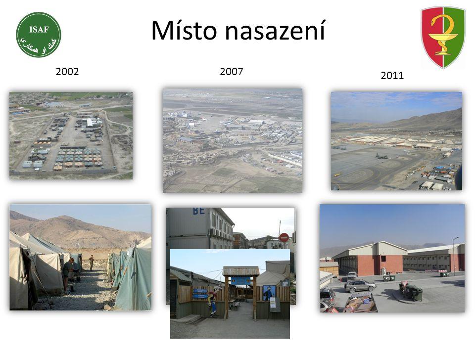 Místo nasazení 2002/2007 2011