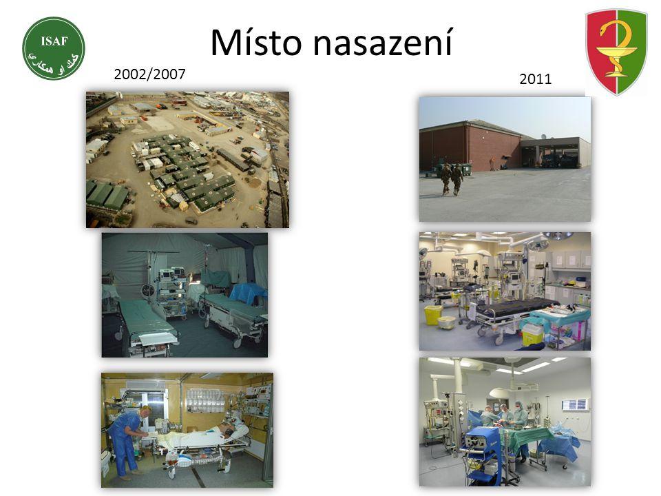 Místo nasazení 2002/20072011