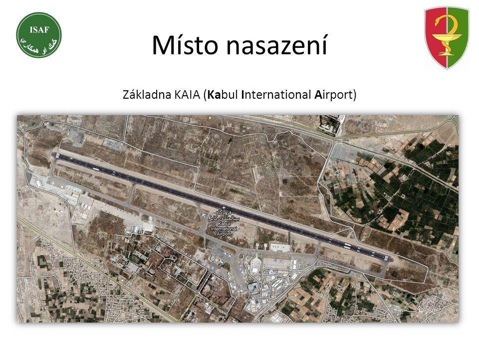 Základna KAIA (Kabul International Airport) Místo nasazení