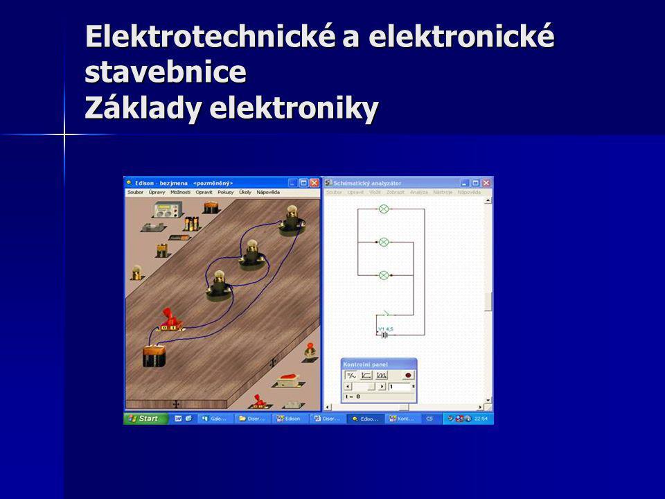 Kategorizace elektrotechnických stavebnic - Elektrotechnické stavebnice lze rozdělit podle více hledisek: 1.