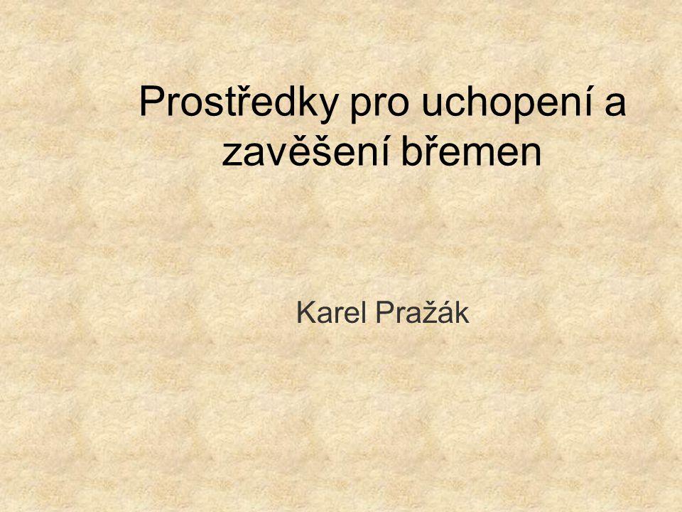 Prostředky pro uchopení a zavěšení břemen Karel Pražák