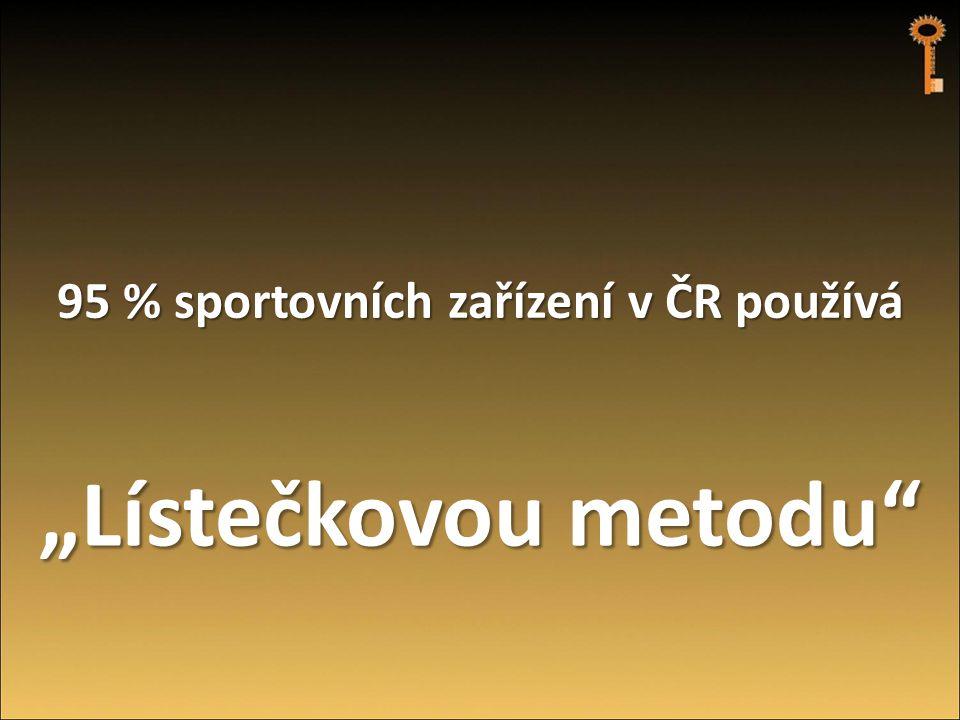 """95 % sportovních zařízení v ČR používá """"Lístečkovou metodu"""""""