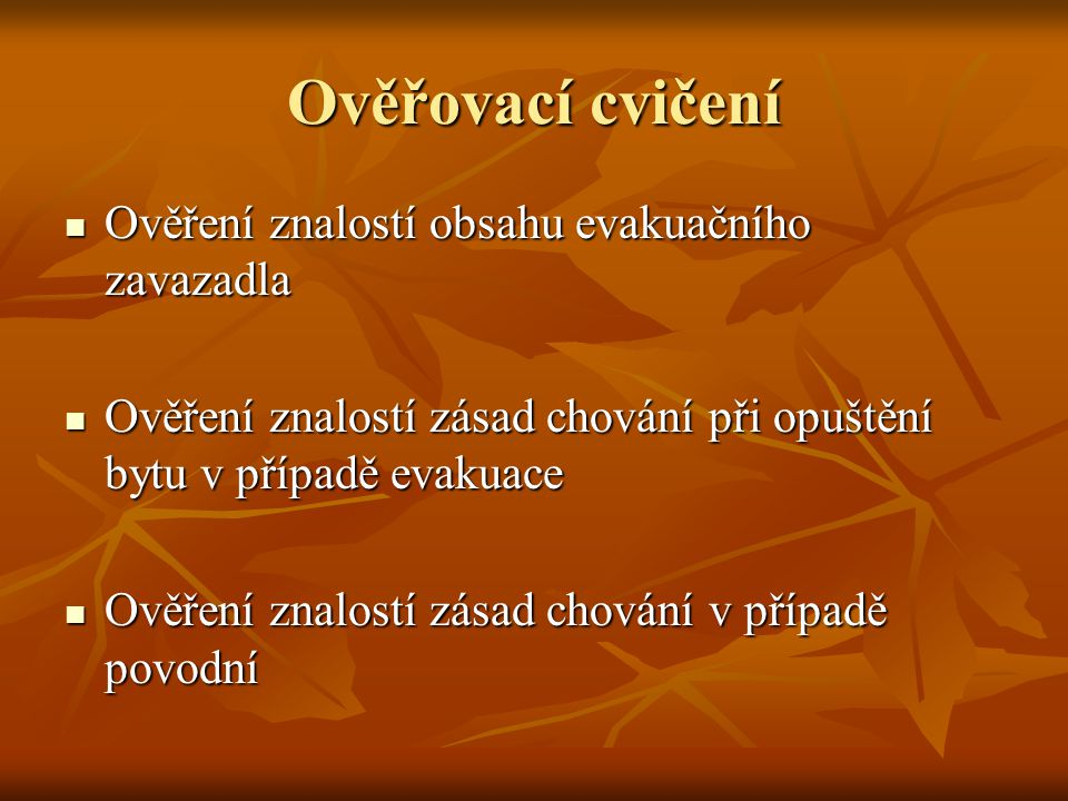 Náměty pro besedy a diskuse  Zde doporučujeme především využití odborníků HZS Moravskoslezského kraje  Lze využít i odborníky provozovatelů nebezpečných látek,