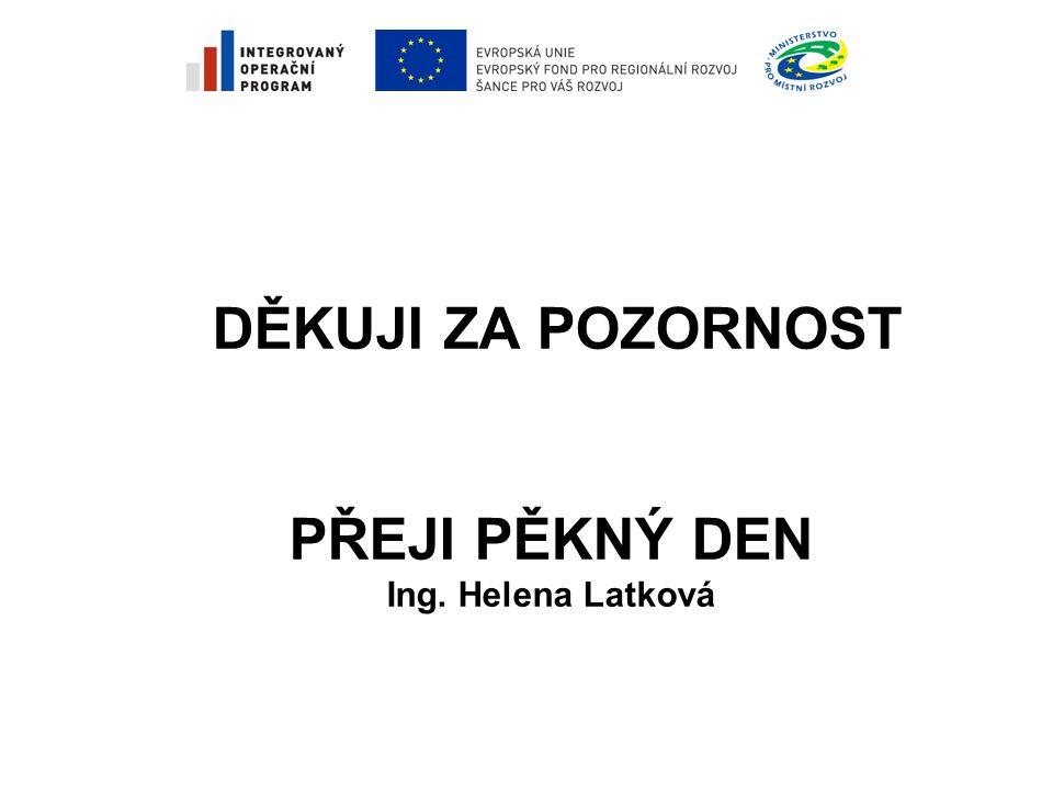 DĚKUJI ZA POZORNOST PŘEJI PĚKNÝ DEN Ing. Helena Latková