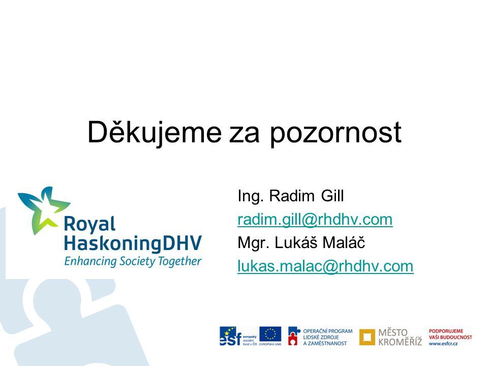 Děkujeme za pozornost Ing. Radim Gill radim.gill@rhdhv.com Mgr. Lukáš Maláč lukas.malac@rhdhv.com