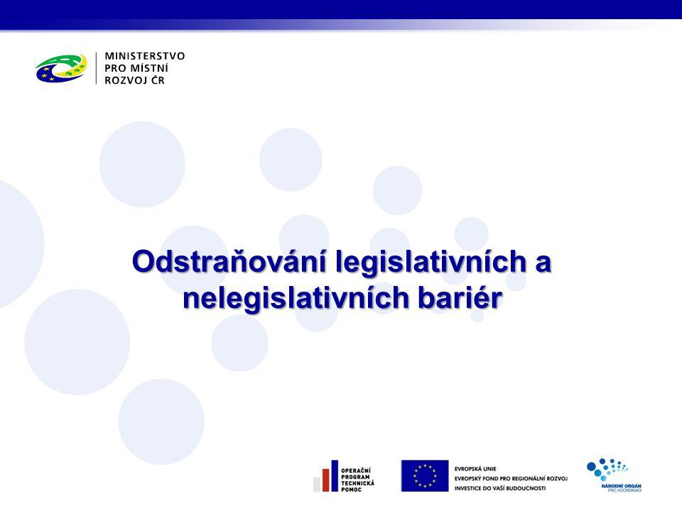 Odstraňování legislativních a nelegislativních bariér