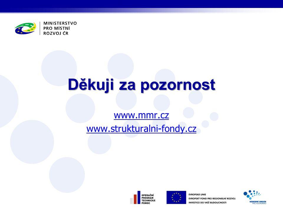 Děkuji za pozornost www.mmr.cz www.strukturalni-fondy.cz