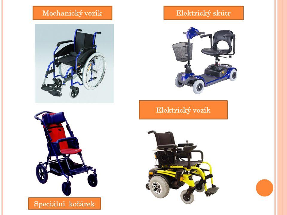 Mechanický vozík Elektrický vozík Speciální kočárek Elektrický skútr