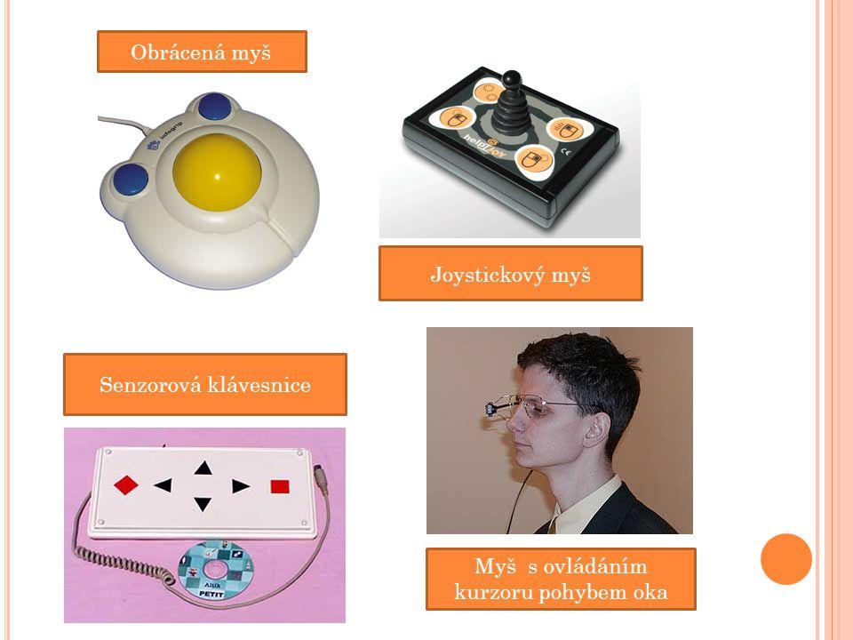 Obrácená myš Senzorová klávesnice Joystickový myš Myš s ovládáním kurzoru pohybem oka