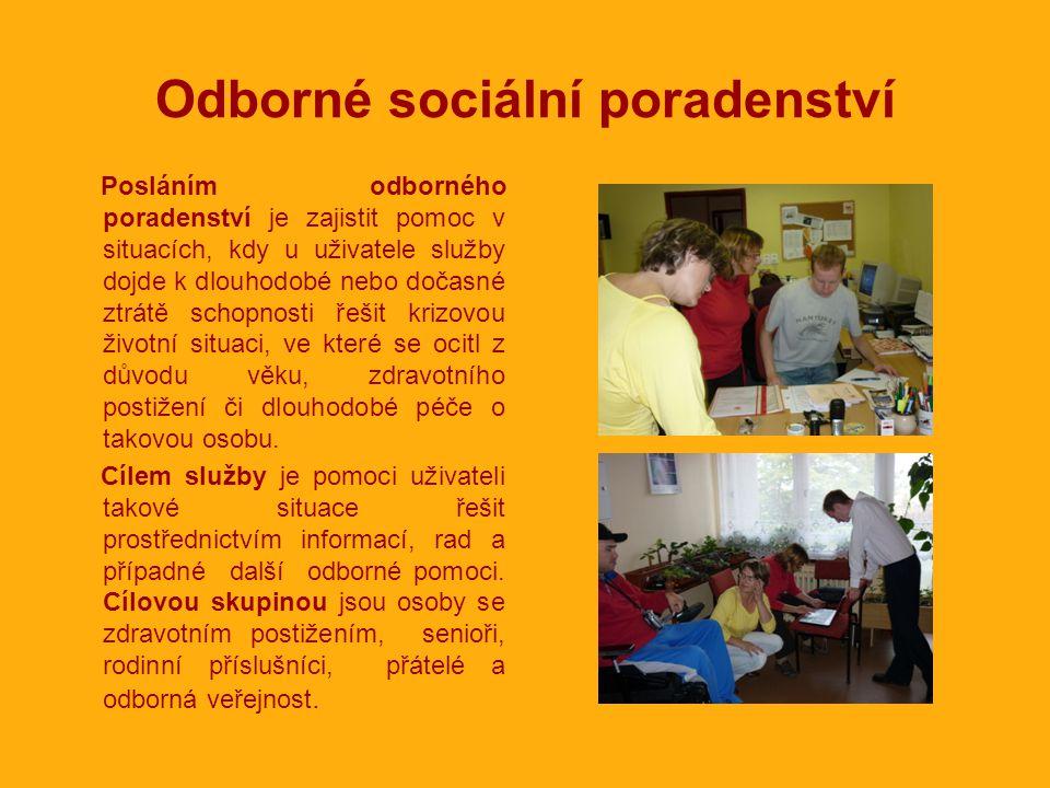 Okruhy poskytovaného poradenství •Pomoc při výběru vhodné sociální služby.
