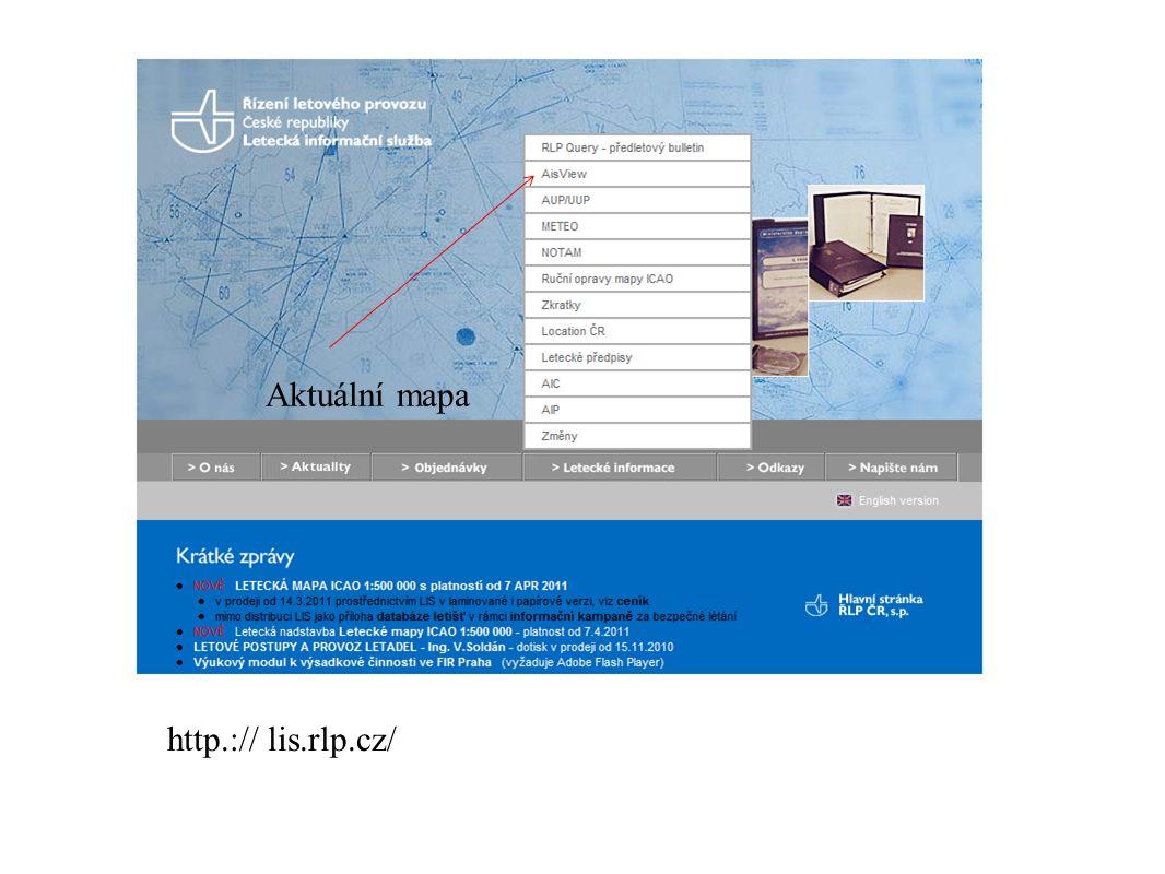 http.:// lis.rlp.cz/ lis Aktuální mapa