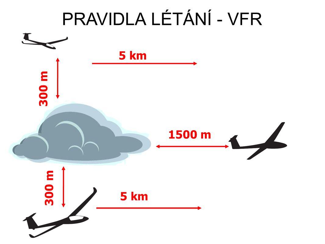 PRAVIDLA LÉTÁNÍ - VFR 1500 m 300 m 5 km 300 m