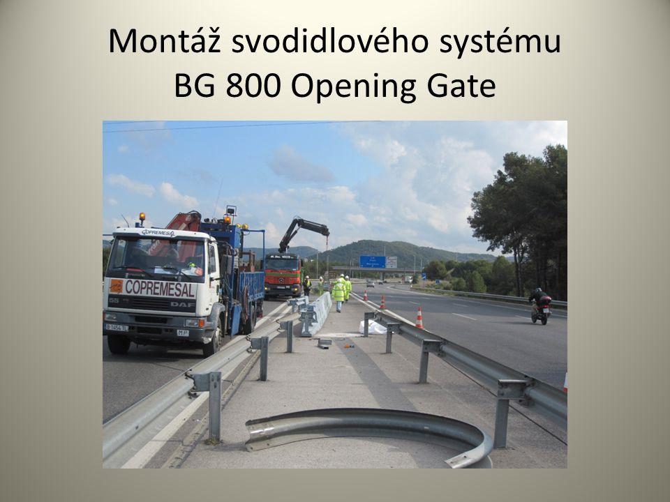 Montáž svodidlového systému BG 800 Opening Gate