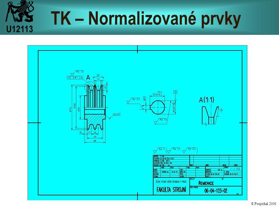 TK – Normalizované prvky U12113 © Pospíchal 2006