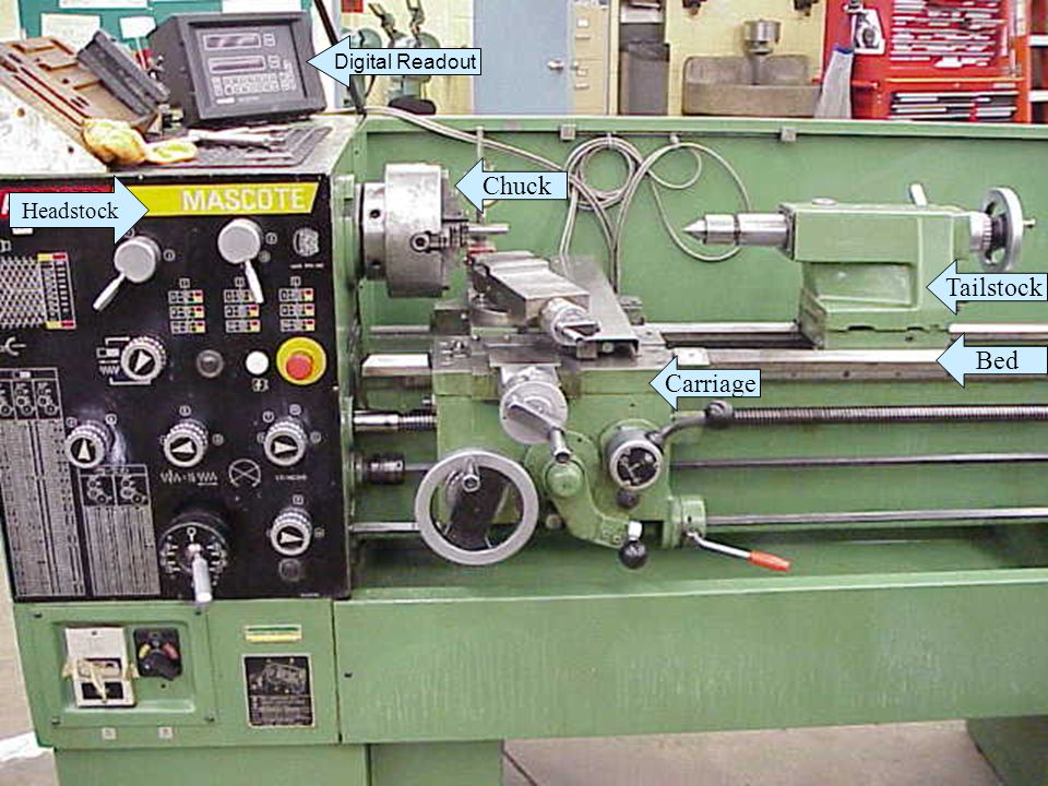 Bed Tailstock Carriage Chuck Digital Readout Headstock