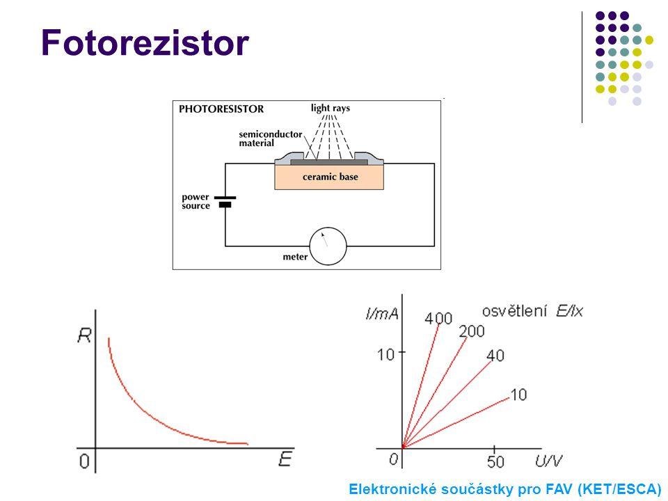 Fotorezistor Elektronické součástky pro FAV (KET/ESCA)