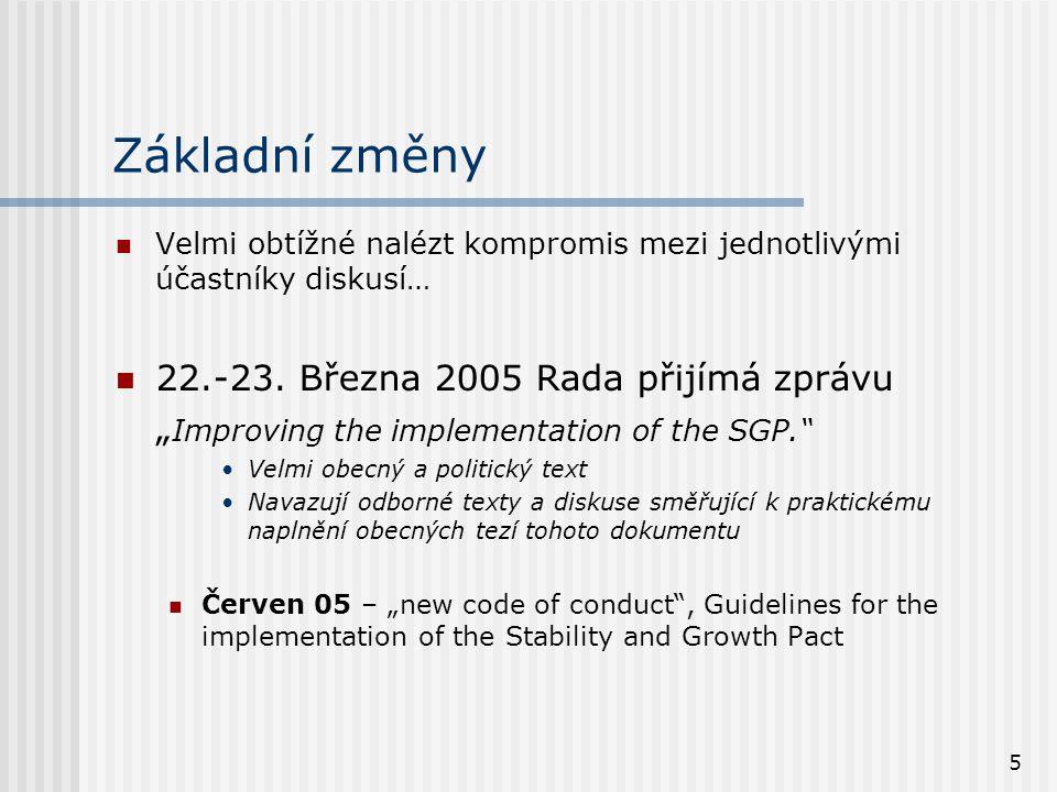 5 Základní změny  Velmi obtížné nalézt kompromis mezi jednotlivými účastníky diskusí…  22.-23.