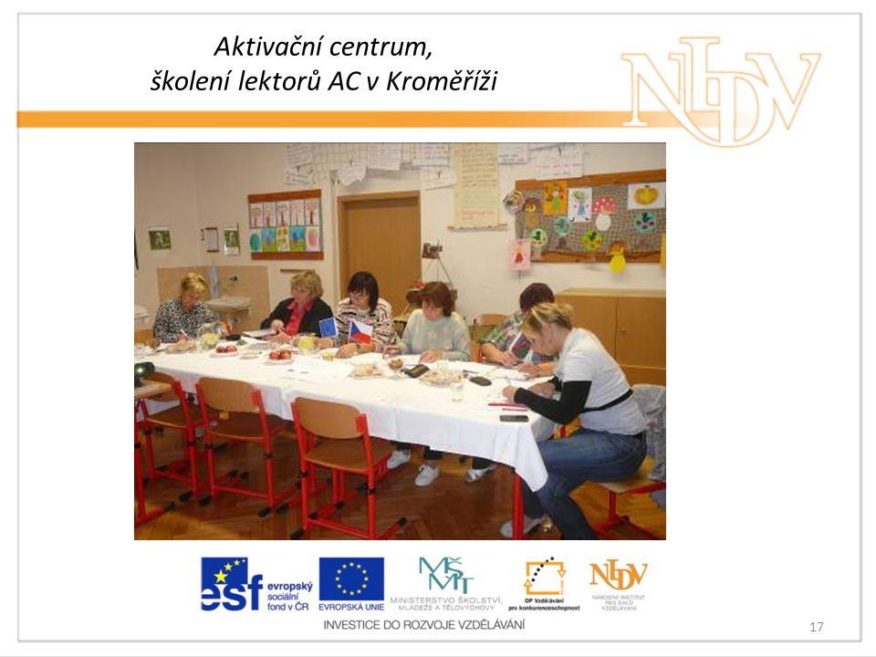 Aktivační centrum, školení lektorů AC v Kroměříži 17