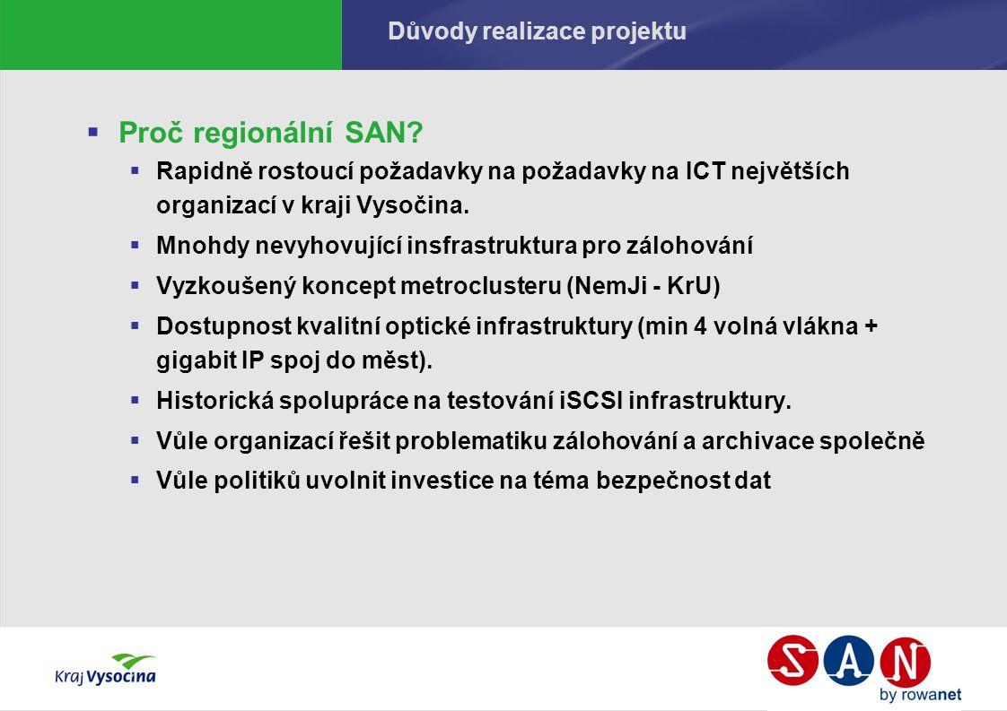 Důvody realizace projektu  Proč regionální SAN.