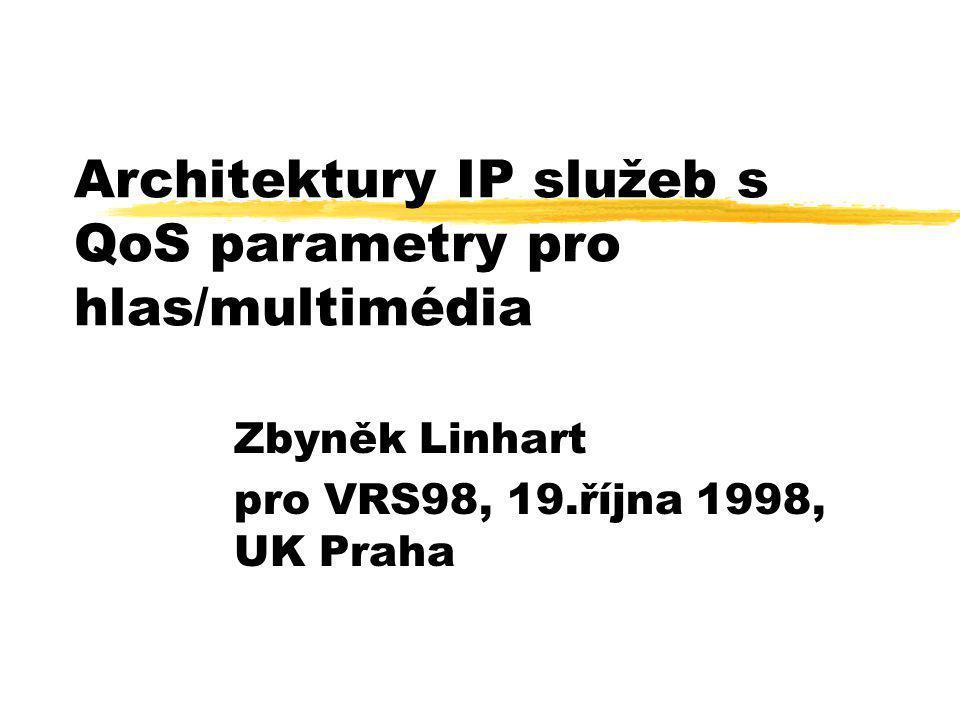 Architektury IP služeb s QoS parametry pro hlas/multimédia Zbyněk Linhart pro VRS98, 19.října 1998, UK Praha