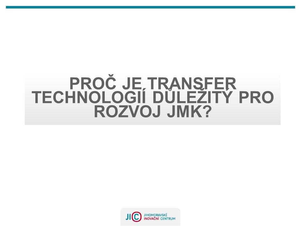 PROČ JE TRANSFER TECHNOLOGIÍ DŮLEŽITÝ PRO ROZVOJ JMK?