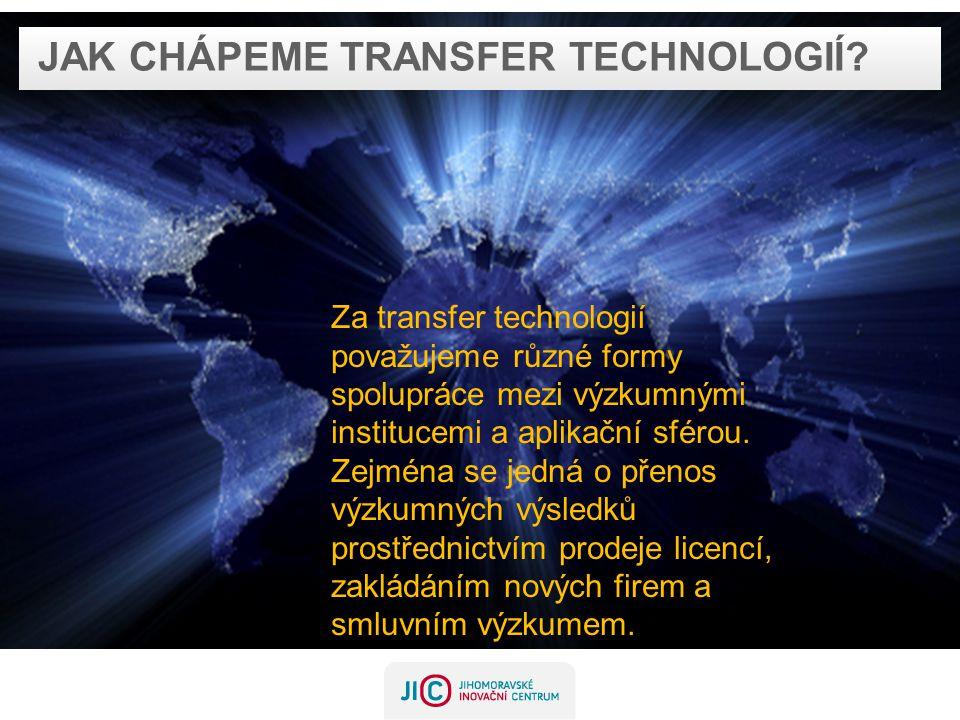 JAK CHÁPEME TRANSFER TECHNOLOGIÍ.