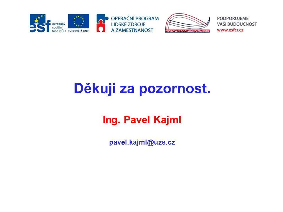Děkuji za pozornost. Ing. Pavel Kajml pavel.kajml@uzs.cz 17
