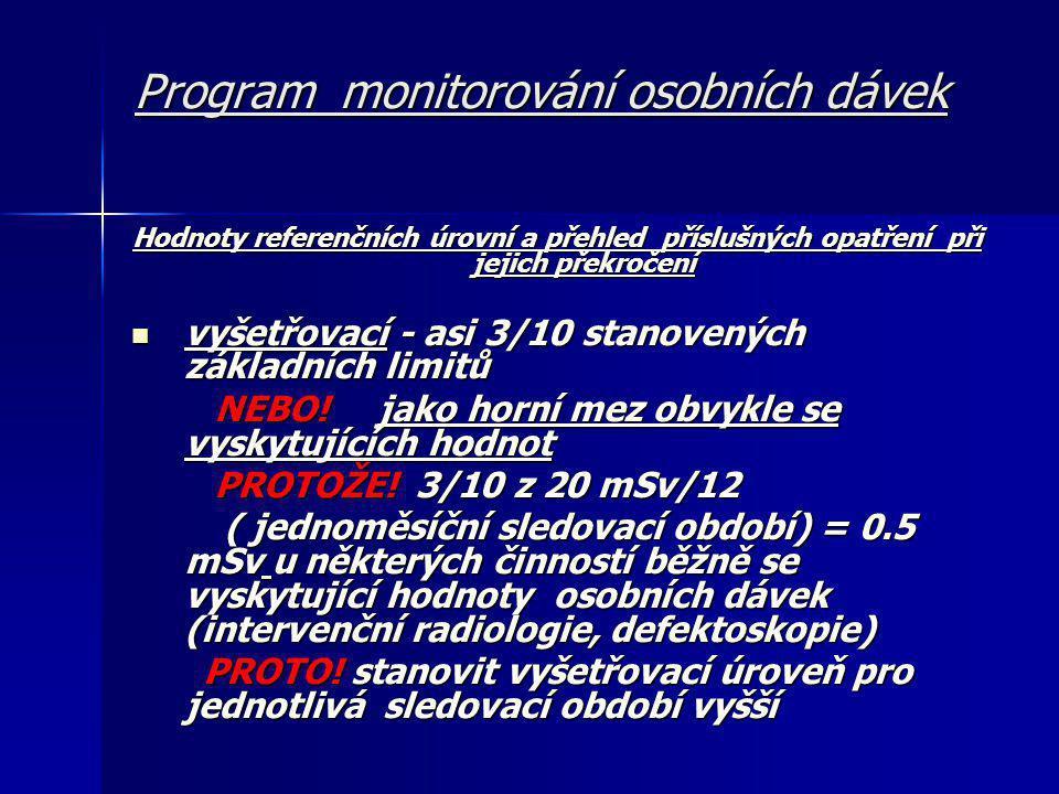 Program monitorování osobních dávek ALE!.