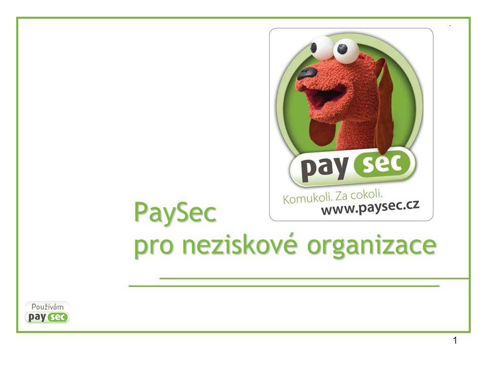 1 PaySec pro neziskové organizace