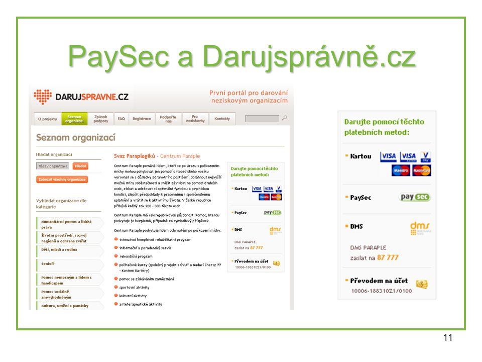 11 PaySec a Darujsprávně.cz