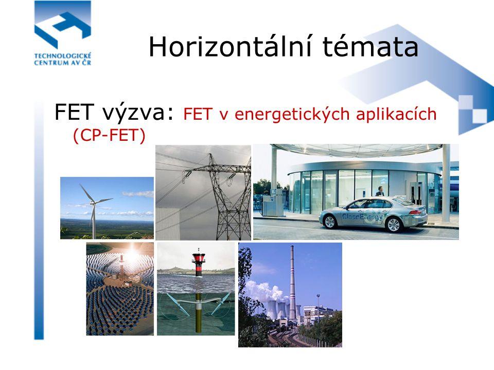 Horizontální témata FET výzva: FET v energetických aplikacích (CP-FET)