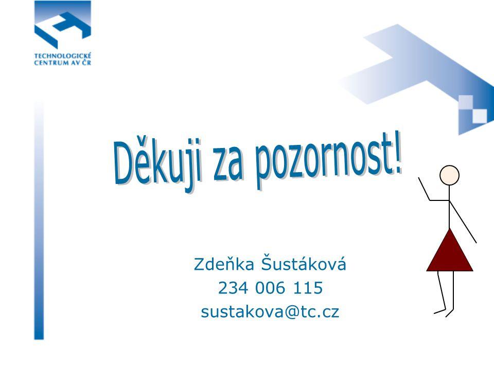 Zdeňka Šustáková 234 006 115 sustakova@tc.cz