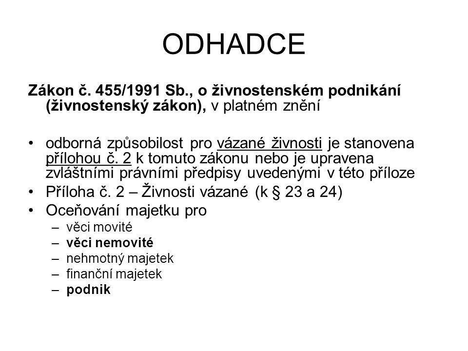 ODHADCE Zákon č.