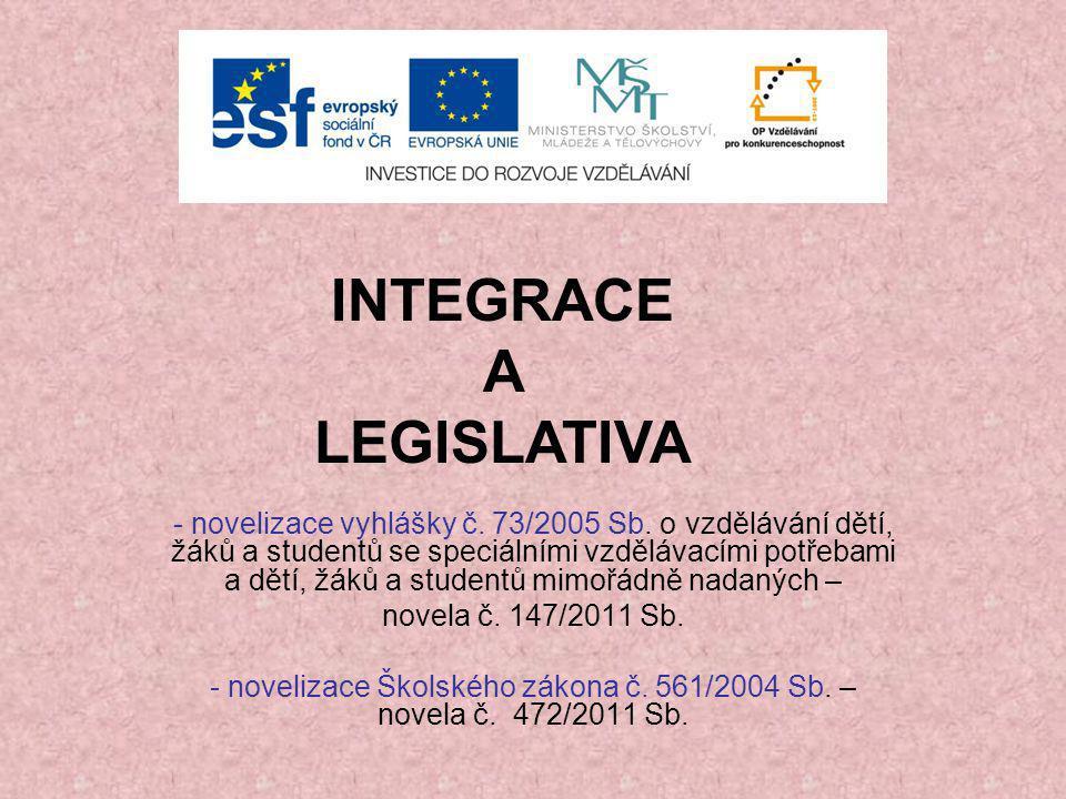 - novelizace vyhlášky č.73/2005 Sb.