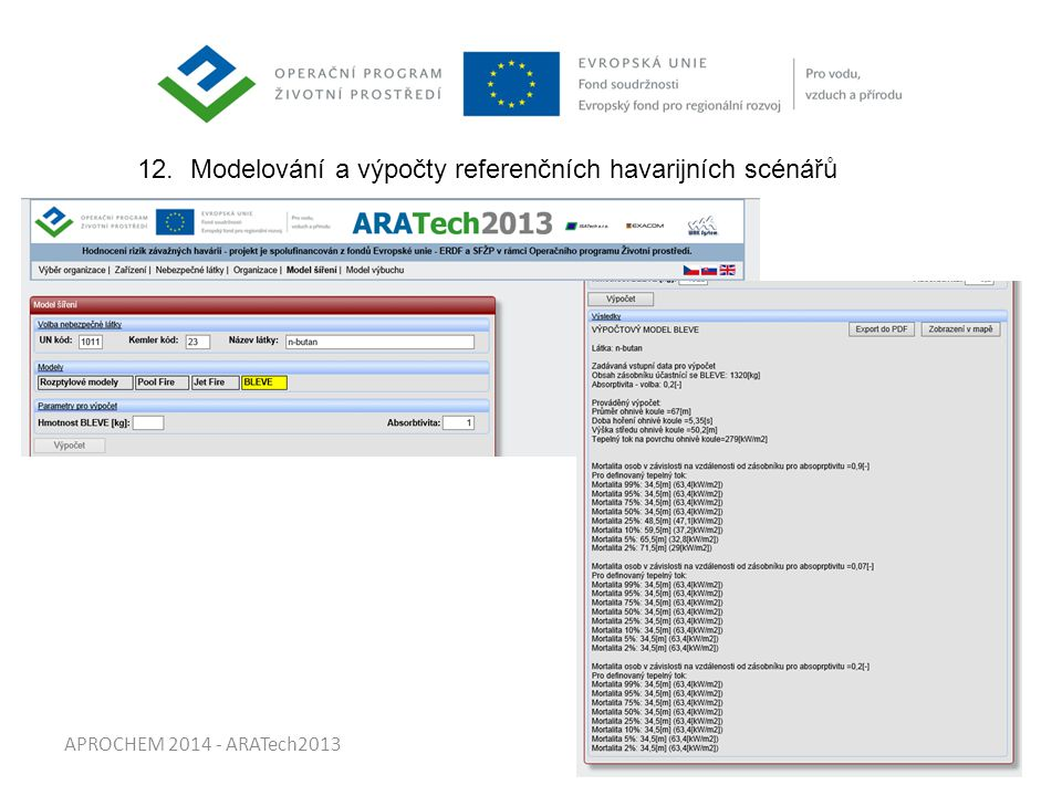 APROCHEM 2014 - ARATech2013 12.Modelování a výpočty referenčních havarijních scénářů