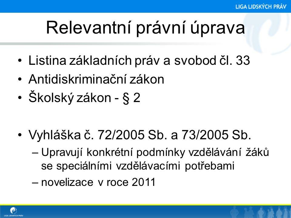 Relevantní právní úprava •Listina základních práv a svobod čl.