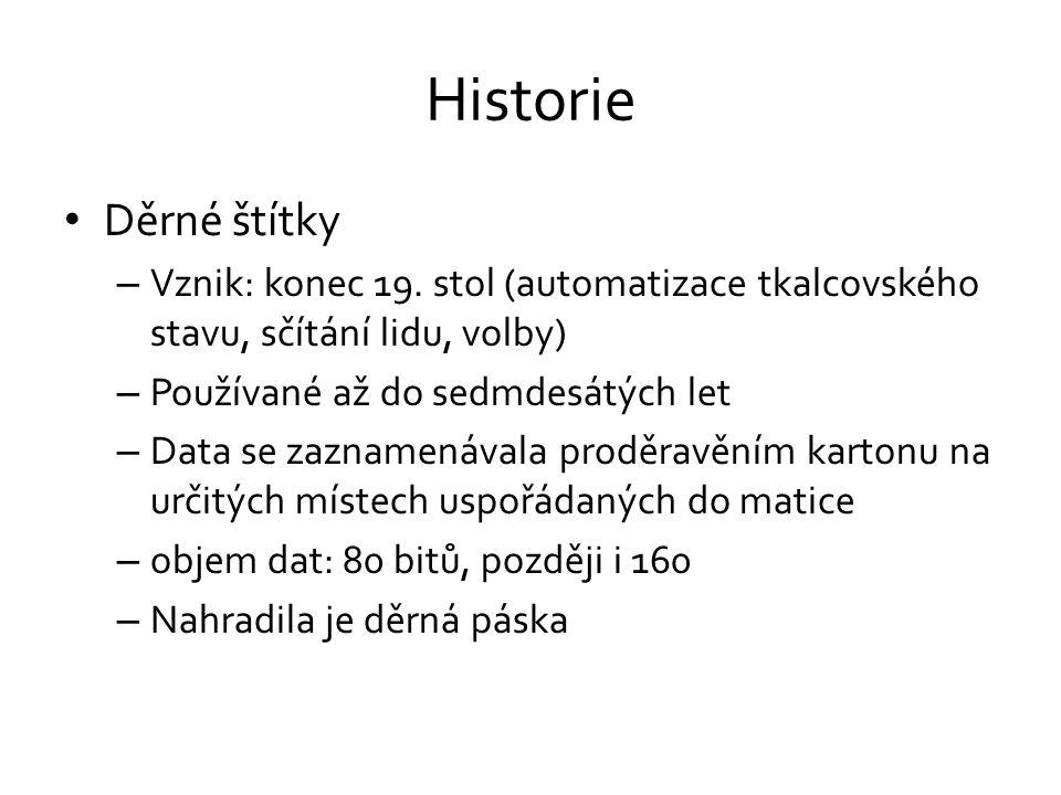 Historie • Děrné štítky – Vznik: konec 19.