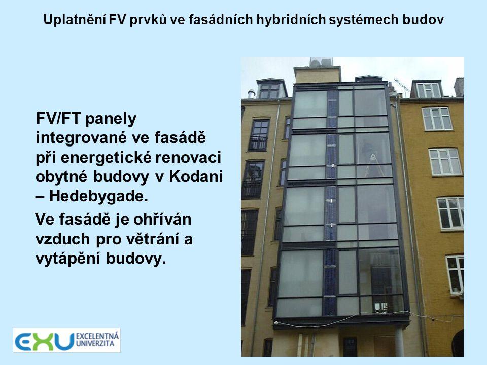 Uplatnění FV prvků ve fasádních hybridních systémech budov FV/FT panely integrované ve fasádě při energetické renovaci obytné budovy v Kodani – Hedeby