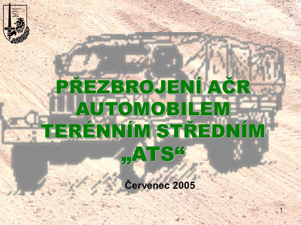 """1 PŘEZBROJENÍ AČR AUTOMOBILEM TERÉNNÍM STŘEDNÍM """"ATS"""" PŘEZBROJENÍ AČR AUTOMOBILEM TERÉNNÍM STŘEDNÍM """"ATS"""" Červenec 2005"""