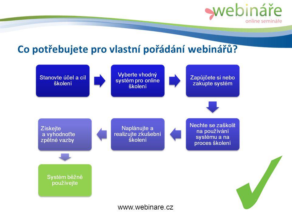 Co potřebujete pro vlastní pořádání webinářů www.webinare.cz