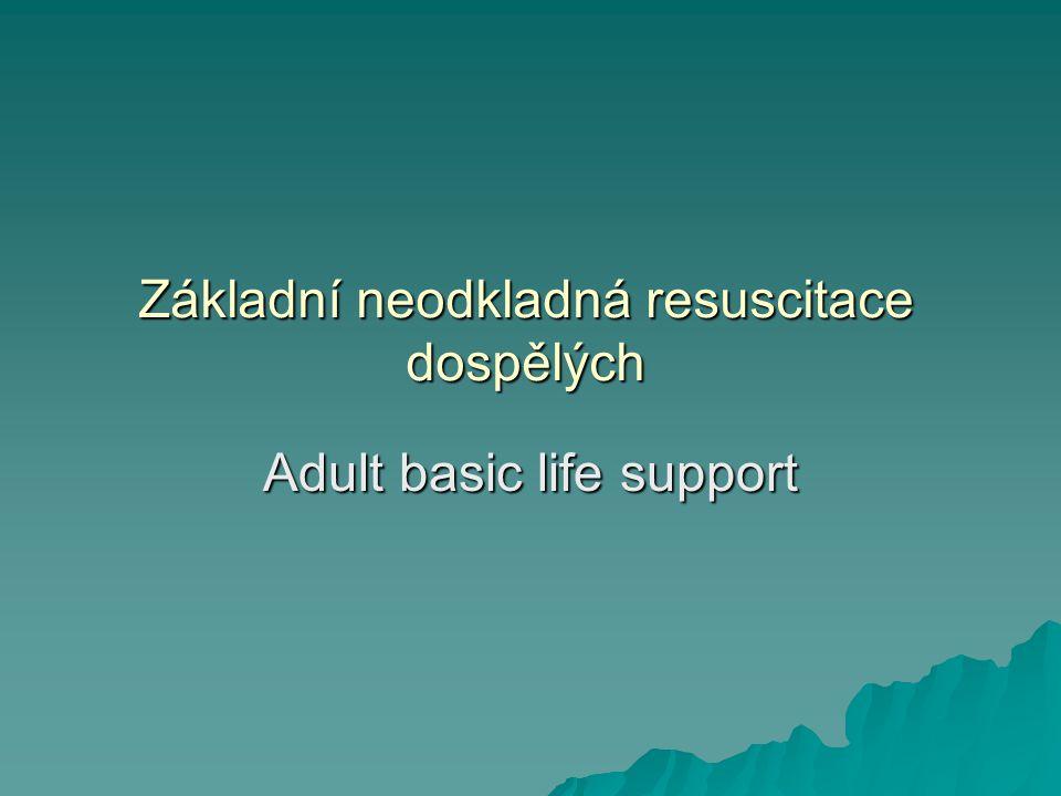 Základní neodkladná resuscitace dospělých Adult basic life support