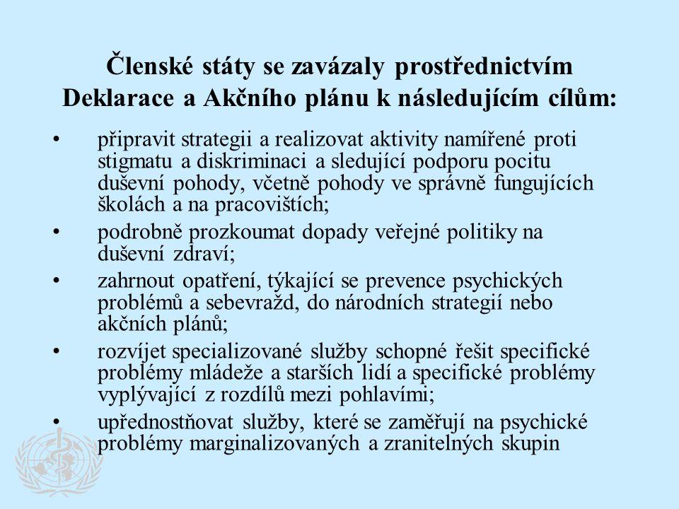 Členské státy se zavázaly prostřednictvím Deklarace a Akčního plánu k následujícím cílům: •připravit strategii a realizovat aktivity namířené proti st