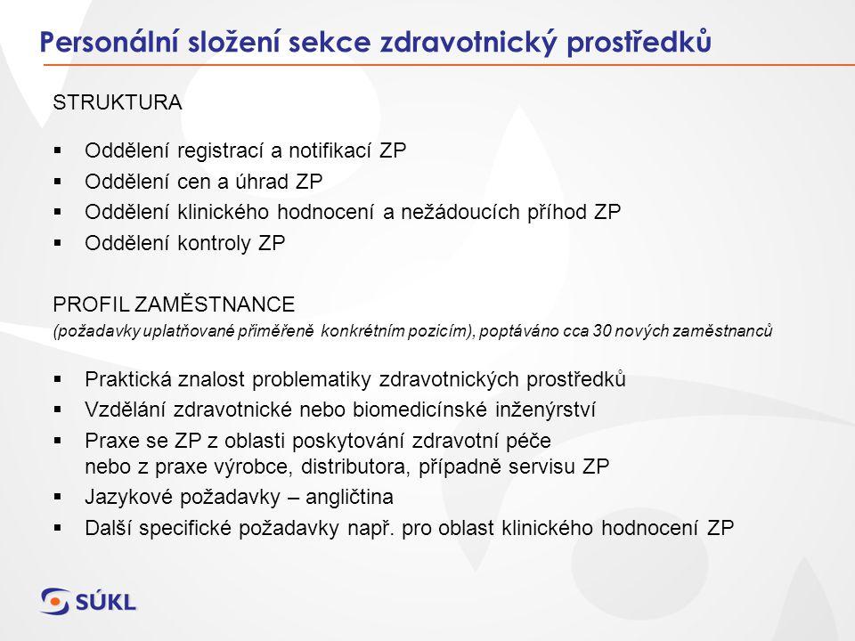 STRUKTURA  Oddělení registrací a notifikací ZP  Oddělení cen a úhrad ZP  Oddělení klinického hodnocení a nežádoucích příhod ZP  Oddělení kontroly